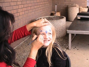 Face Painting and Fun at Benefit in Maplewood, MN